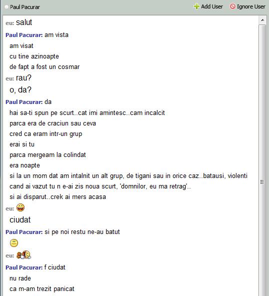 Conversație reală între subsemnatul (Vasile Tomoiagă) și un prieten, martie 2013